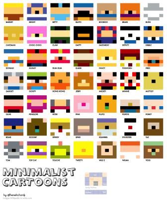 minimalist cartoons