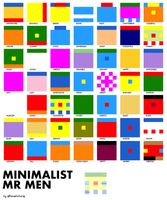 minimalist mr men
