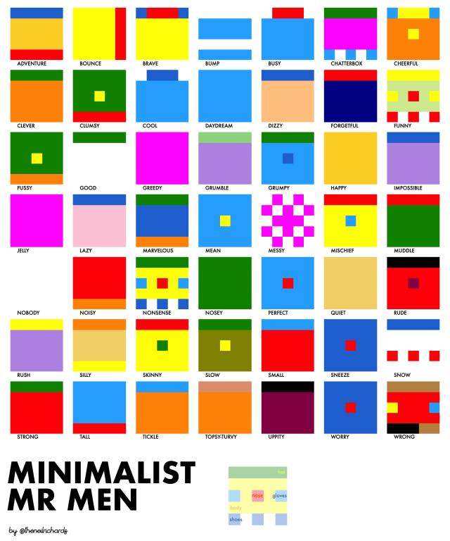 minimalist mr men