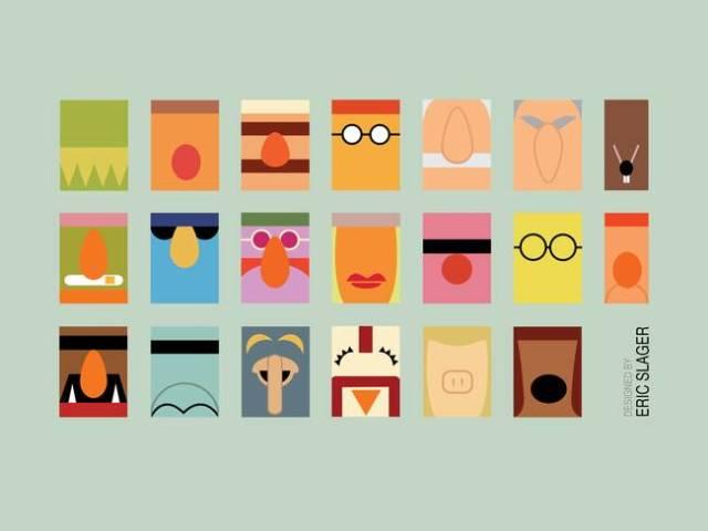 Minimalist-Muppets_art